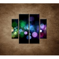 Obrazy na stenu - Abstraktné svetlá - 4dielny 100x90cm