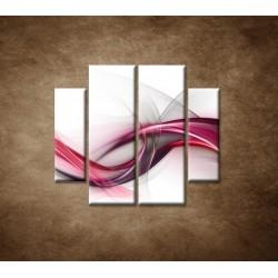 Obrazy na stenu - Ružová vlna - 4dielny 100x90cm