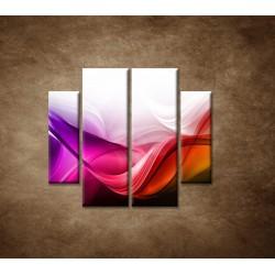 Obrazy na stenu - Farebná vlna - 4dielny 100x90cm