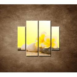 Obrazy na stenu - Leelawadee kvet - 4dielny 100x90cm