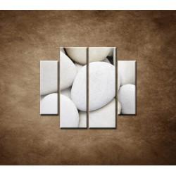 Obrazy na stenu - Biele kamene - 4dielny 100x90cm