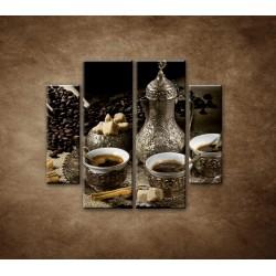 Obrazy na stenu - Kanvica kávy - 4dielny 100x90cm