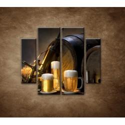 Obrazy na stenu - Pivný raj - 4dielny 100x90cm