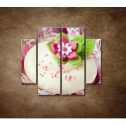 Obrazy na stenu - Svadobné koláčiky - 4dielny 100x90cm