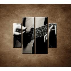 Obrazy na stenu - Gitarista - 4dielny 100x90cm