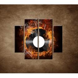 Obrazy na stenu - Platňa v plameňoch - 4dielny 100x90cm