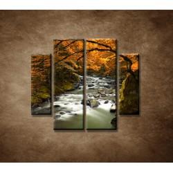 Obrazy na stenu - Jesenná krajina - 4dielny 100x90cm