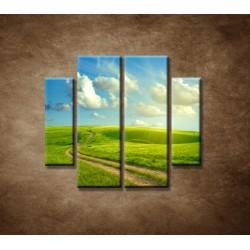 Obrazy na stenu - Letná krajina - 4dielny 100x90cm
