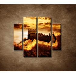 Obrazy na stenu - Čínsky múr - 4dielny 100x90cm
