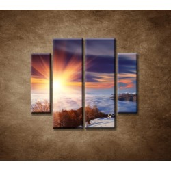 Obrazy na stenu - Slnko na horách- 4dielny 100x90cm