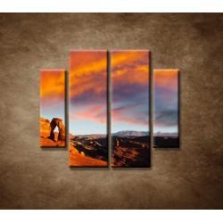 Obrazy na stenu - Kamenné údolie - 4dielny 100x90cm
