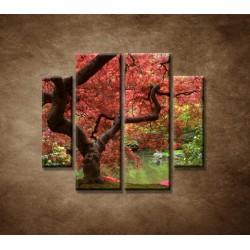 Obrazy na stenu - Japonský javor - 4dielny 100x90cm