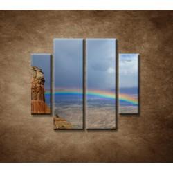 Obrazy na stenu - Dúha na horách - 4dielny 100x90cm