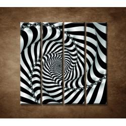Obrazy na stenu - 3D špirála - 4dielny 120x120cm