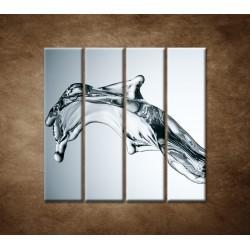 Obrazy na stenu - Tečúca voda - 4dielny 120x120cm