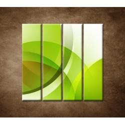 Obrazy na stenu - Zelená abstrakcia - 4dielny 120x120cm