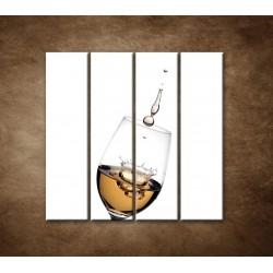 Obrazy na stenu - Biele víno - 4dielny 120x120cm