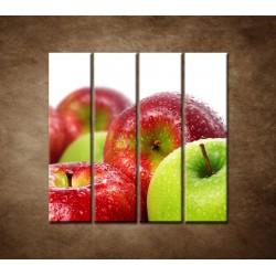 Obrazy na stenu - Červené a zelené jablká - 4dielny 120x120cm