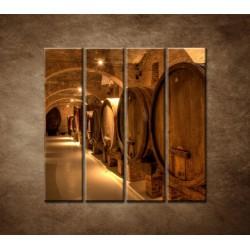 Obrazy na stenu - Vinárska pivnica - 4dielny 120x120cm