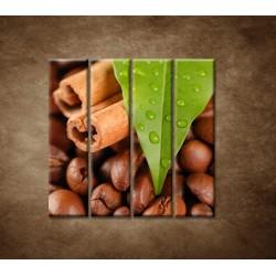 Obrazy na stenu - Káva - 4dielny 120x120cm