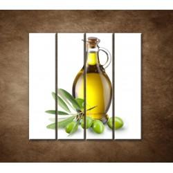 Obrazy na stenu - Olivový olej - 4dielny 120x120cm
