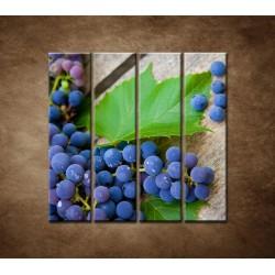 Obrazy na stenu - Modré hrozno - 4dielny 120x120cm