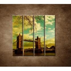 Obrazy na stenu - Londýn - Tower Bridge - 4dielny 120x120cm