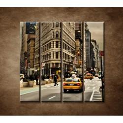 Obrazy na stenu - Žehlička - New York - 4dielny 120x120cm