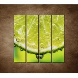 Obrazy na stenu - Plátok citróna - 4dielny 120x120cm