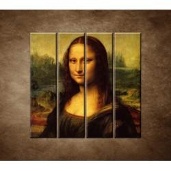 Obrazy na stenu - Mona Lisa - 4dielny 120x120cm