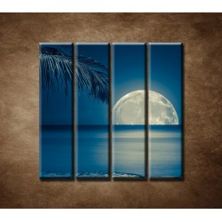 Obrazy na stenu - More v noci - 4dielny 120x120cm