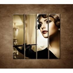 Obrazy na stenu - Žena s cigaretou - 4dielny 120x120cm