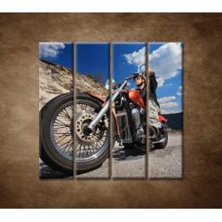 Obrazy na stenu - Motorkár - 4dielny 120x120cm