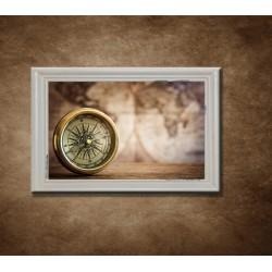 Obraz na stenu - Kompas - bledý rám