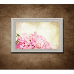 Obraz na stenu - Vintage kvety - bledý rám