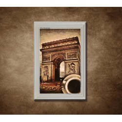 Obraz na stenu - Káva v Paríži - bledý rám