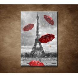 Obrazy na stenu - Červené dáždniky