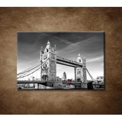 Obrazy na stenu - Červený autobus na Tower bridge