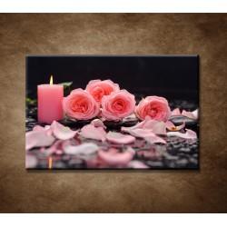 Obrazy na stenu - Ruže so sviečkou
