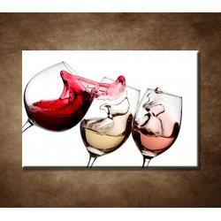 Obrazy na stenu - Tri druhy vína