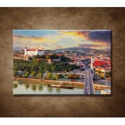 Obrazy na stenu - Západ slnka nad Bratislavou