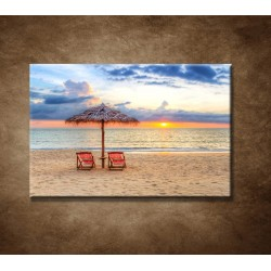 Obrazy na stenu - Slnečník na pláži