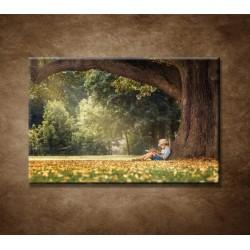 Obrazy na stenu - Čítajúci chlapec