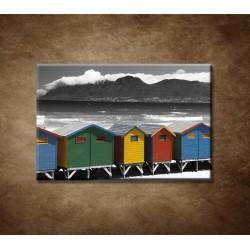 Obrazy na stenu - Farebné chatky