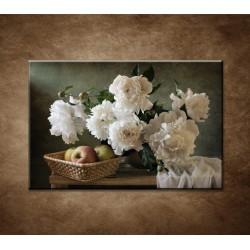 Obrazy na stenu - Pivonky a jablká