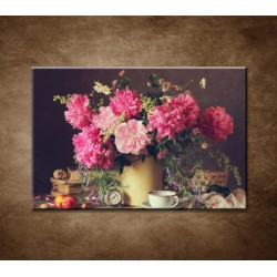 Obrazy na stenu - Zátišie s pivonkami