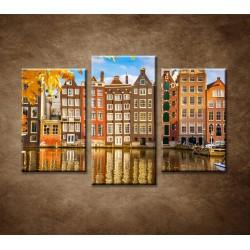 Obrazy na stenu - Jesenný Amsterdam - 3dielny 75x50cm