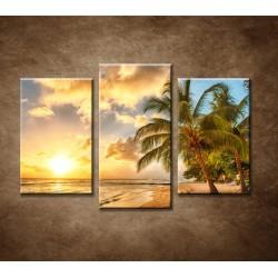Obrazy na stenu - Biela pláž - 3dielny 75x50cm