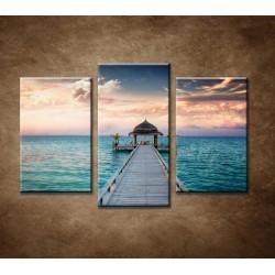 Obrazy na stenu - Maledivy - 3dielny 75x50cm