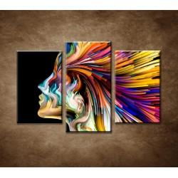 Obrazy na stenu - Abstraktný motív 5 - 3dielny 75x50cm